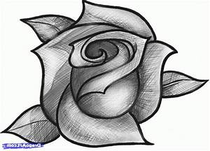 Drawing Of Roses - Pencil Art Drawing