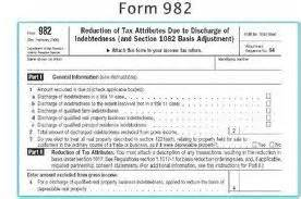 Insolvency Worksheet Irs 1099 A Form 982 Submited Images