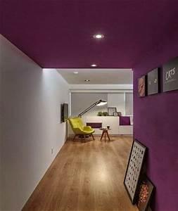 Peindre Un Plafond Facilement : d co salon peindre un plafond et un mur de couloir en ~ Premium-room.com Idées de Décoration