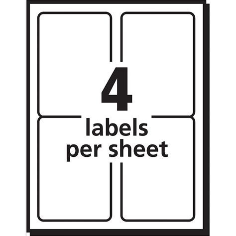Template Avery 8168 Template Avery Shipping Labels For Inkjet Printers 3 5 X 5 Inches