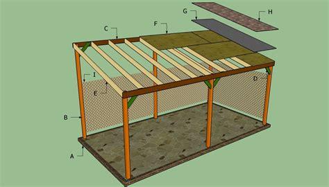 build  lean  carport garden patio