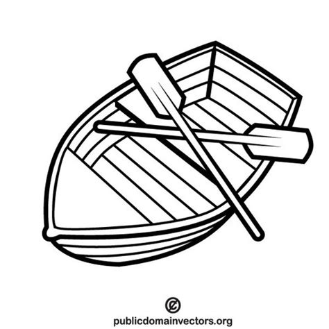 Boat Paddle Outline by Boat With Two Paddles Domain Vectors