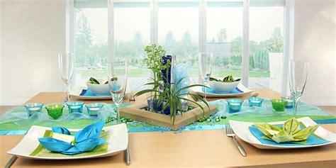 Tischdeko Grün Blau tischdeko blau gr 252 n feier tischdekoration 360 176 ansicht