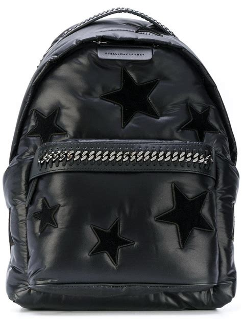 lyst stella mccartney falabella star backpack  black