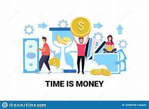 Business People Holding Dollar Coin Banknote Save Time ...
