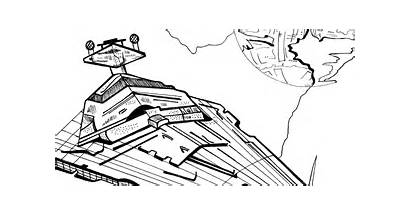 Coloring Star Destroyer Printable Imperial Likes