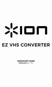 Ion Vcr 2 Pc Quick Start Manual Pdf Download