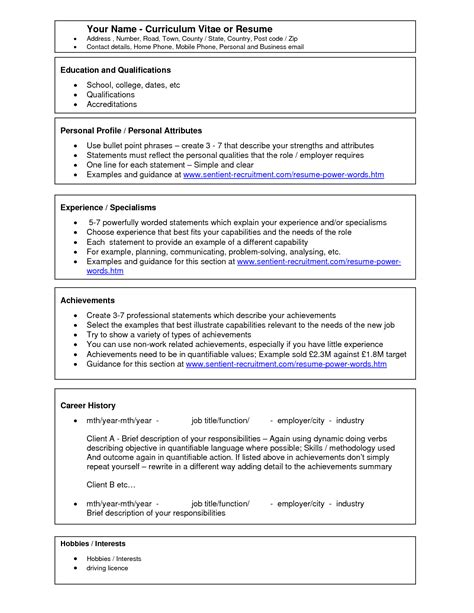 Resume Outline Microsoft Word 2010 by Resume Templates Microsoft Word 2010 Health Symptoms And