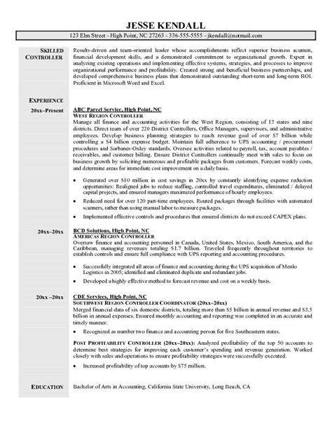 resume format for cost accountants association in united construction controller resume exles http www resumecareer info construction controller