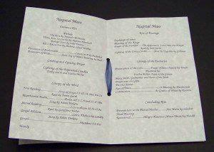 nuptial mass booklet wedding ideas  stephanie