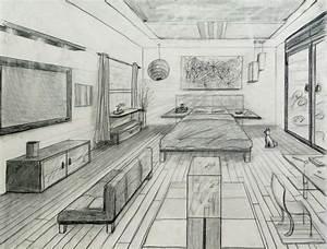 Perspektive Zeichnen Raum : one point perspective fancy bed room kunstunterricht perspektive zeichnen perspektive und ~ Orissabook.com Haus und Dekorationen