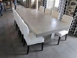 Table A Manger Beton : table salle manger b ton cir table pinterest ~ Teatrodelosmanantiales.com Idées de Décoration