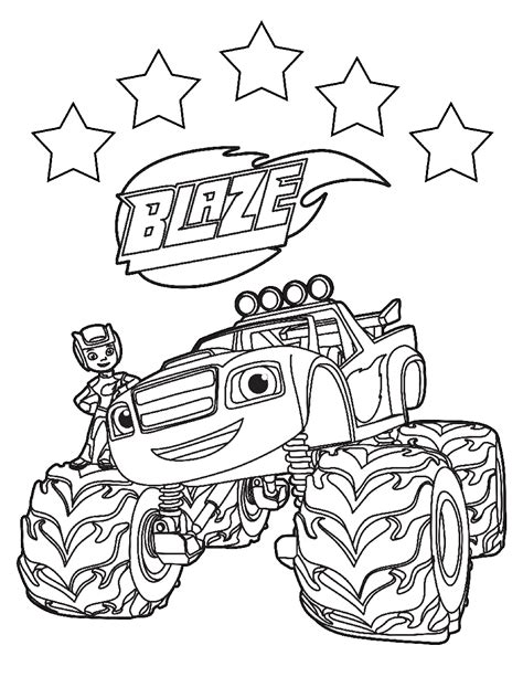 blaze   monster machines coloring pages  coloring pages  kids