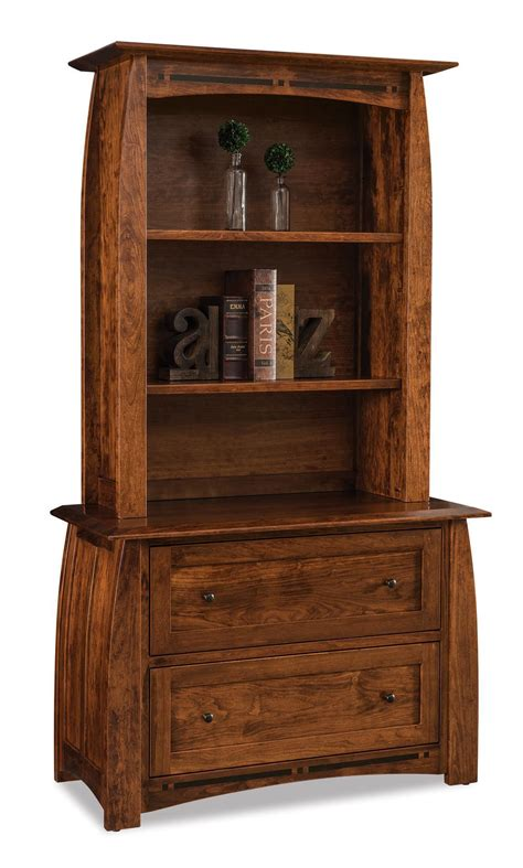 Bookcase With Lateral File Drawer by Boulder Creek Two Drawer Lateral File Cabinet With