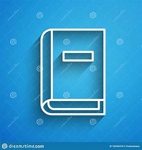 White Line User Manual Icon Isolated On Blue Background