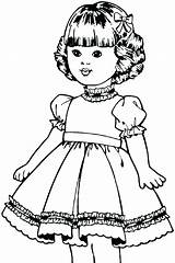 Coloring Pages Doll American Dolls Printable Paper Bestcoloringpagesforkids Fun Kit Isabelle Adults Getcolorings Getdrawings Christmas sketch template