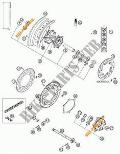 Rear Wheel For Ktm 640 Lc4