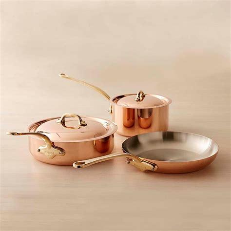 mauviel copper  piece cookware set small williams sonoma au