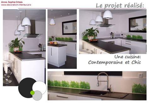 deco cuisine et grise decoration cuisine grise et blanche