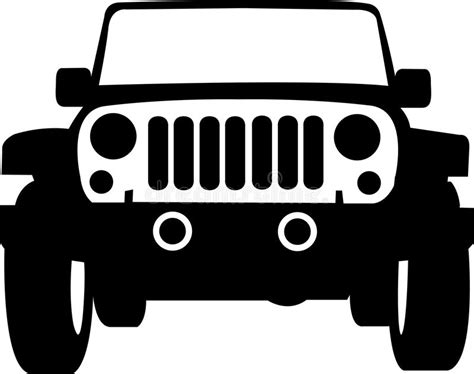 jeep truck outline stock vector image  isolated jeep