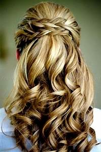 half up half down - half up half down hairstyle with braid ...