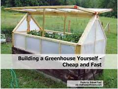 Build Small Greenhouse From Robert Ford On Building An Inexpensive Mini Greenhouse