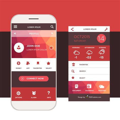 ui design template freebie mobile application interface design psd 72pxdesigns