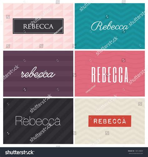 rebecca graphic design elements stock vector