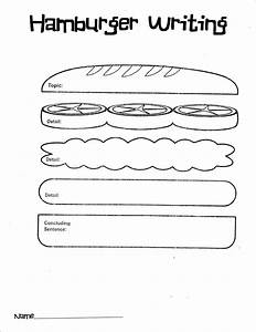 hamburger graphic organizer to teach paragraphing With burger writing template
