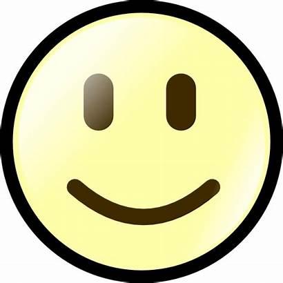 Happy Face Yellow Clip Clipart Vector Clker