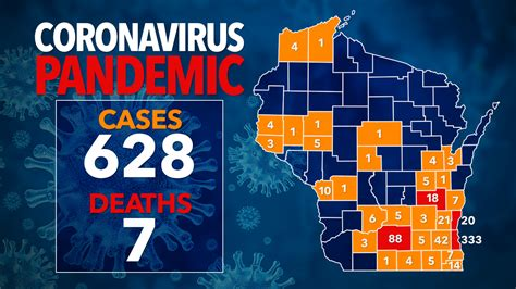 628 positive cases of COVID-19 in Wisconsin, over 10K ...
