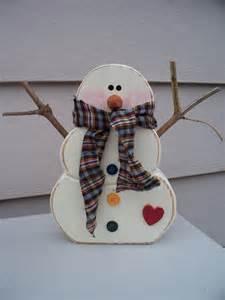 Pinterest Wooden Snowman Crafts