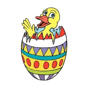 Duck Boat Easter Egg by Duck In Multi Colored Easter Egg Easter Decals Decal