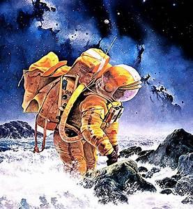 Vintage Sci-Fi Art Astronaut - Pics about space