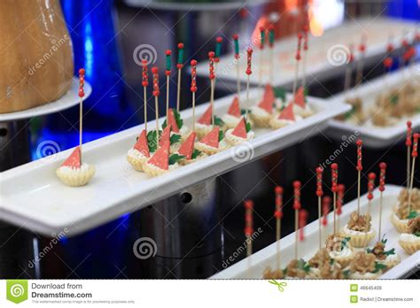 canape stock canape de jambon photo stock image 46645409