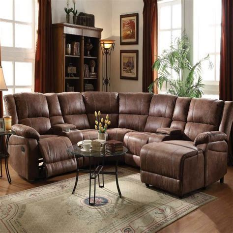 Home Theater Loveseat Recliners by Reclining Home Theater Sectional Sofa Set Console
