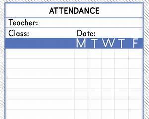 School Attendance Sheet Template Attendance Sheet Etsy