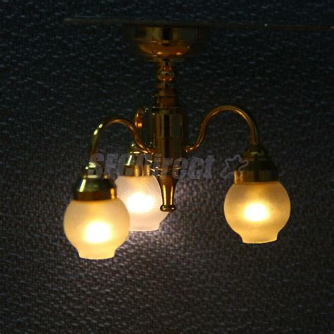 Battery Chandelier by Dollhouse Miniature 3 Arm Chandelier Ceiling L Led