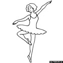 Ballerina Ballet Dancer Coloring Page