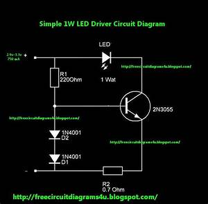 Free Circuit Diagrams 4u  1w Led Driver Circuit Diagram