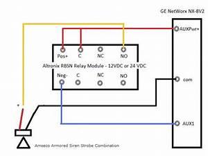 Ge Networx Nx-8v2 To Horn Via Rbsn Relay
