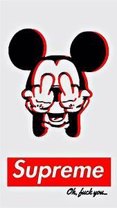 Mickey Mouse Obey Wallpaper Iphone - impremedia.net