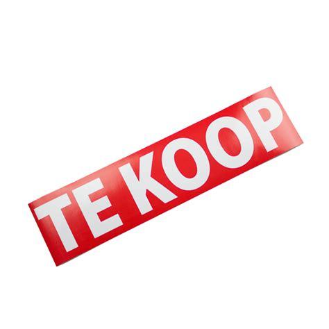Te Koop Yde by Stickers Te Koop Verkocht Te Huur Verhuurd 40x10cm