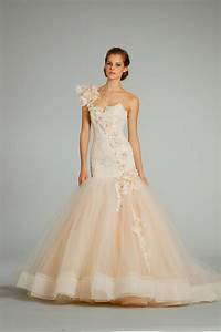 fall 2012 wedding dress lazaro bridal gowns 3259 peach With peach wedding dress