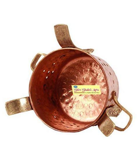 shiv shakti arts steel copper handi  piece cookware set buy    price  india