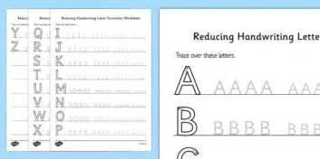 reducing handwriting letter formation worksheets handwriting