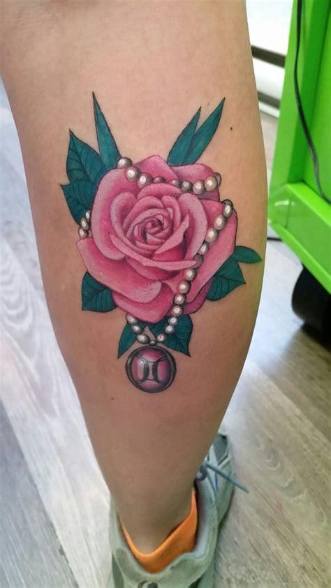 rose pearl gemini tattoo   soooo  tattoos