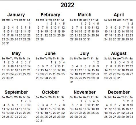 calendar printable year calendar