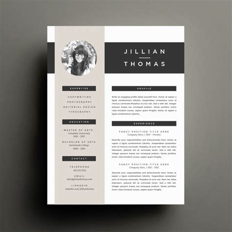 business infographic creative resume template and cover