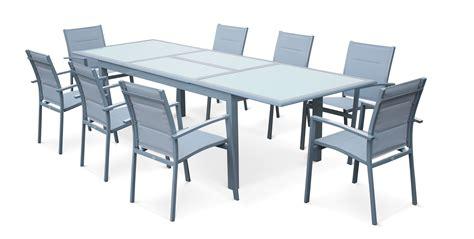 emejing salon de jardin aluminium salon de jardin aluminium table extensible
